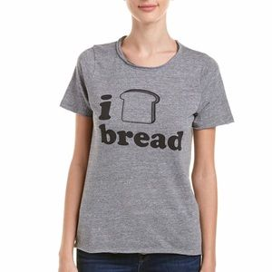 Chaser Tee Shirt Top I love Bread Small S chasor